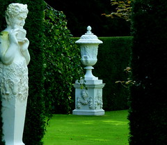 Faun and Urn in the gardens at Anglesey Abbey (Jayembee69) Tags: urn nt statelyhome nationaltrust cambridgeshire satyr faun lode angleseyabbey cambs