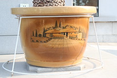 Ceramic pot (Ray Cunningham) Tags: ceramic hotel north korea pot pyongyang dprk coreadelnorte