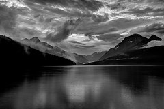 Clearing-Evening-Storm-Lake-Bowman-2 (are_we.there_yet) Tags: sunset bw montana glaciernationalpark clearingstorm lakebowman