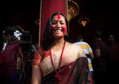 Sindur Khela (swarnendu) Tags: portrait people india canon photography eos faces candid religion 5d hindu kolkata bengal puja sen durga bengali sindur khela swarnendu