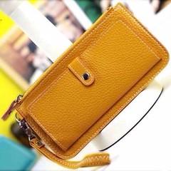 กระเป๋าสตางค์ผู้หญิง ยาว2พับแฟชั่นเกาหลีรุ่นใหม่แบบคลัชมีสายคล้องมือ นำเข้า พร้อมส่งIS999 ราคา350บาท กระเป๋าสตางค์ดีไซน์ใหม่ Luxury Faux Leather Wallet Purse สีสันหวานน่ารักโดนใจใช้ได้ทุกวัย มีสายคล้องข้อมือจะใช้เป็นกระเป๋าคลัชออกงานได้สวย กระเป๋าสตางค์ใช