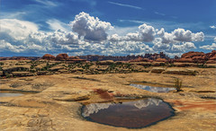 The Needles (Fil.ippo) Tags: sky panorama usa reflection clouds landscape mirror utah nationalpark sigma canyonlands needles 1020 hdr filippo paesaggio d7000 filippobianchi