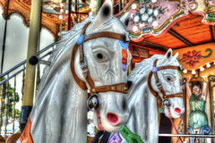 Carousel Horses (CA Phoenix) Tags: camera blue girls red music orange white france green boys speed children french fun lights amusement nice nikon colours bright roundabout carousel carouselhorses laughter circular d5200 carrouselpalace
