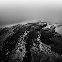 Hard way (ilias varelas) Tags: longexposure blackandwhite bw water monochrome turn way landscape rocks long exposure mood path hard greece ilias canonef1740mmf4l varelas canoneos6d