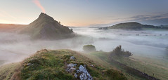 Parkhouse Hill Pre-dawn (Paul Newcombe) Tags: morning trees england mist fog sunrise early nationalpark frost derbyshire peakdistrict september hills limestone whitepeak 2014 canon1740l parkhousehill reefknoll britnatparks fromchromehill
