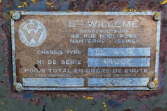WILLEME LD 4x4 (Plaque constructeur) (xavnco2) Tags: old france yellow plaque jaune truck french king 4x4 lorry camion trucks normandie slogan ld ancien roi lkw autocarro constructeur elbeuf poidslourds willme