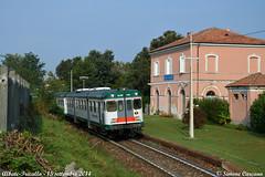 Tripla ad Albate (Simone ©arcano) Tags: como station train rail stazione brianza treno automotrice rfi aln668 simonecarcano aln6681106 trazionediesel comolecco trenord albatetrecallo