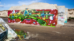 Bunker (Cilcgaillard) Tags: mer canon flickr sable tags bunker vague plage graffitis flaque montalivet cecilegaillard cilcgaillard