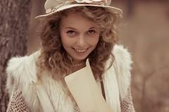 Mori (Emma-tyan) Tags: autumn trees girl beautiful forest vintage hair fur bokeh young retro dreamy boho wonderland mori bohemian