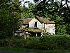 The corner of Latourell & Falls (bulldog008) Tags: wood old roof house building green history abandoned home window field architecture rural river wooden bush exterior empty rustic ruin scenic nobody columbia national porch area weathered gorge aged residence damaged desolate deserted slat dilapitated wooded dwelling disrepair