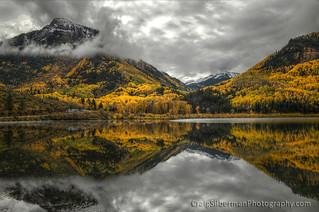 autumn mountain morning