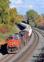 CN 705 (Michael Berry Railfan) Tags: cn train quebec montreal ge generalelectric canadiannational freighttrain emd gmd tankcars es44dc gevo tanktrain sd75i montrealwest cn2249 cn5706 montrealsub cn705 cnu705