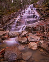 Cloudland Falls (Michael Juvet) Tags: park new white mountains waterfall state nh franconia hampshire falls falling trail waters notch cloudland