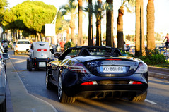 SLR (Passionauto291) Tags: blue slr cars french 50mm mercedes nikon riviera cannes mclaren supercar roadster croisette d90 hypercars passionauto29