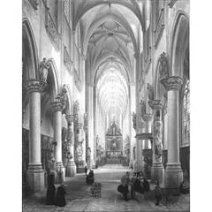 Jules Victor Génisson and Florent Willems - Interior of the Church of Saint Jakobskerk, Antwerp (karolinabadz) Tags: sculpture dog church painting interior stainedglass altar antwerp pulpit ngi genisson wilems
