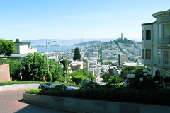 "Looking down Lombard & Coit Tower from afar • <a style=""font-size:0.8em;"" href=""http://www.flickr.com/photos/34843984@N07/15360400637/"" target=""_blank"">View on Flickr</a>"