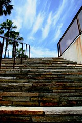 Stairway to the Sky (Photographing Travis) Tags: downtown guadalupepark sanjose sky stairs steps year2006 southbay 2006