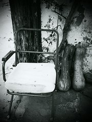 IMG_20141019_052221 (Sianeye) Tags: blackandwhite abandoned village chairs crete android