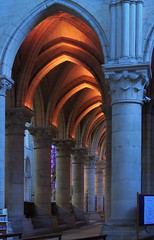 Lights Under Arches (haberlea) Tags: france church lights cathedral interior gothic arches medieval middleages hdr laon laoncathedral