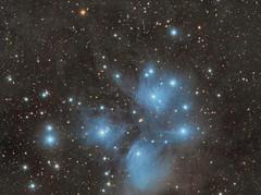 M45, Seven Sisters Pleiades (Gareth Harding) Tags: sky night matt stars ed long exposure astro 106 telescope astrophotography m45 messier gareth harding stargazing foyle fsq pixinsight astrometrydotnet:status=solved bbcstargazing qhy9m astrometrydotnet:id=nova886164