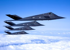 "Lockheed F-117 ""Nighthawks"" during a sortie over the Antelope Valley. (aeroman3) Tags:"