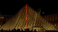 Louvre at Night (Daveyhere) Tags: city travel blue light sky urban paris france building art history tourism monument fountain glass museum architecture modern night clouds facade french mirror evening design europe european cityscape exterior pyramid louvre famous capital sightseeing entrance landmark palace medieval exhibition illuminated historic musee baroque shape parisian