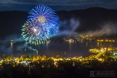 Oktoberfest Fireworks over Lake George Village