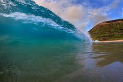Sandys Morning Blues wm (MICHAEL A SANTOS) Tags: ocean hawaii waves oahu reef eastside sandys whitewash michaelasantos