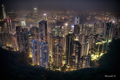 Hong Kong Skyline (@Alebi) Tags: city colors skyline night canon hongkong lights neon cityscape bladerunner scifi victoriapeak cityshot citycore madeit canonef2470f28 canon5dmarkiii