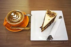 (Angeline Goh) Tags: coffee cake voigtlander infusion teatime 25mm 1utama colorskopar a6000 sonya6000