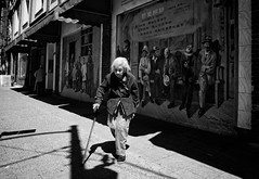 Off the wall (. Jianwei .) Tags: street old woman vancouver chinatown offthewall nex kemily