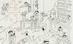 Albert Dubout Album 1944  cartoon  bistrot Pere Tranquille detail b