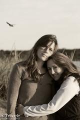 Partners (Triscele Photography) Tags: two beach lesbian point ma marthas vineyard women couple long massachusetts bisexual mass bi