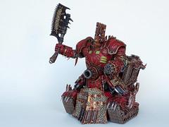 Khorne Lord of Skulls (Uruk's Customs) Tags: world skulls chaos space apocalypse lord warhammer marines gargantuan wh40k eaters daemons khorne superheavy