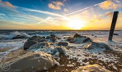 Milford on Sea Rocks 4 (Alex Kerslake Photography) Tags: uk sunset sea sky white black beach boats waves moody dramatic hampshire quay milford lymington keyhaven