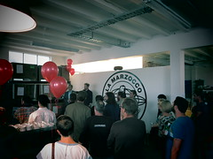 Tom Handiside and Matt Symons outdo themselves at the branch opening in Auckland.