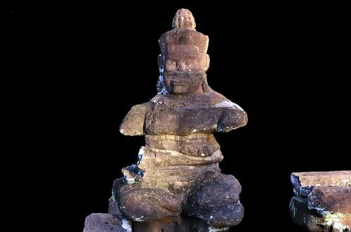 Cambodia - Angkor Thom - Statue At North Gate - 6b