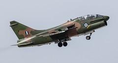 Vought TA-7H Corsair II, HAF 336 Mira (Reinier Bergsma) Tags: fly hit pirates low hard greece ii farewell corsair airforce mira haf hellenic 335 vought 336 araxos generaldynamicsf16c ta7h