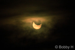 October 23, 2014 - The partial solar eclipse with clouds. (Bobby H)