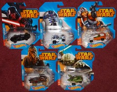 Mattel - Star Wars - Wave 1 (Darth Ray) Tags: morning hot cars wheel this star yoda character wheels luke darth r2d2 target wars vader mattel chewbacca skywalker