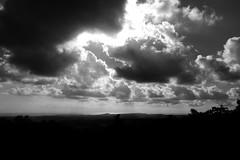 Cloudy sky over the plains - Alpes Maritimes (jessica.petraszko) Tags: voyage travel light sky sun nature clouds soleil blackwhite lumière ciel fujifilm nuages noirblanc alpesmaritimes xm1 lerouret