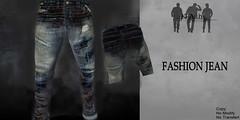 New Fashion Men Jeans (Khellya Ash) Tags: life blue man men beauty fashion shop shopping clothing jean mesh jeans second damaged mode