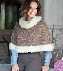 (Homair) Tags: wool fuzzy poncho tneck simplyknitting