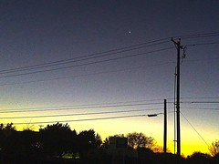 Pflugerville, TX; 7:03 pm (johnnyp_80435) Tags: springbrook sunset telephonepole wires texas pflugerville