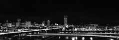 (Zeb Andrews) Tags: fujig617 6x17 pano panoramic cityscape portland oregon urban downtown blackwhite kodaktrix film pacificnorthwest pdx architecture panorama scannedatbluemooncamera