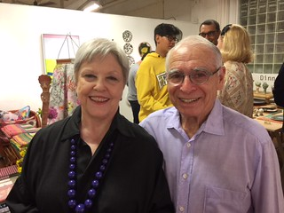 Kay and Dr. Bob Apfel, longtime supporters of the Bakehouse ArtComplex, at the 30th anniversary party
