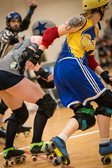 High Altitude Roller Derby (_bobmcclure_) Tags: hard high altitude roller derby deby skaters bout