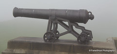 Canon in misty mission. (FameShoot Photography) Tags: canon misty tynemouth north uk old northumberland sea seaside hill monument collingwood statue admiral lord