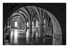MONASTERIO DE POBLET  ( Tarragona-Cataluña-España ) (RAMUBA) Tags: monasterio poblet monestyr tarragona españa bw blanco y negro cisterciense gotico cistercian gothic