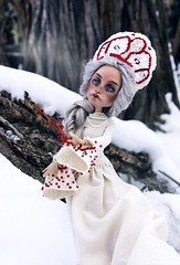 he was a dragon (tehhishek) Tags: winter january february mattel model ooak custom white blue snow frost mx monster high